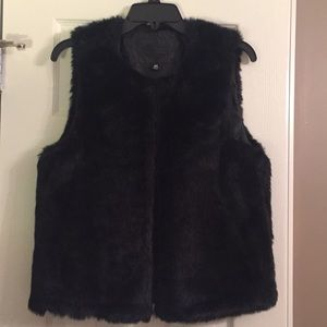 Jou Jou black fur vest. Size medium